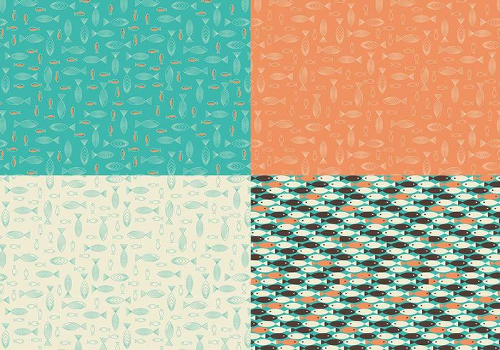 Retro Fish Vector Pattern Pack