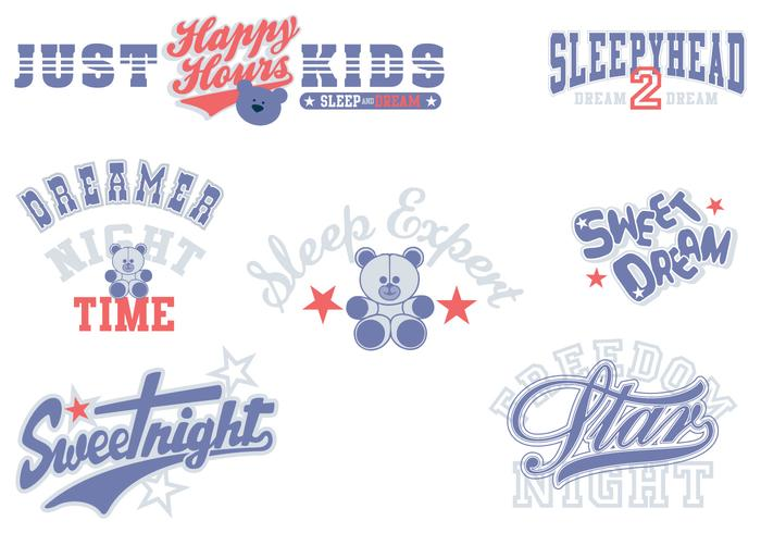Sweet Dreams Typography Vector Pack