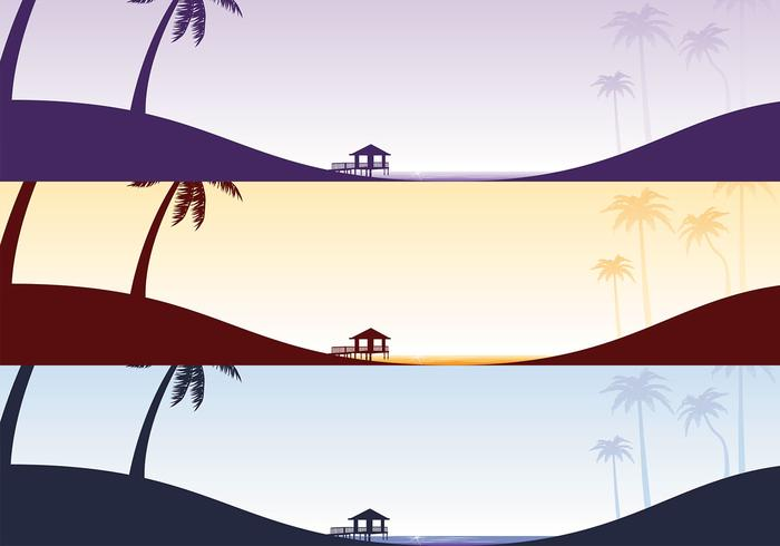 Tropical Beach Vector Wallpaper Pack