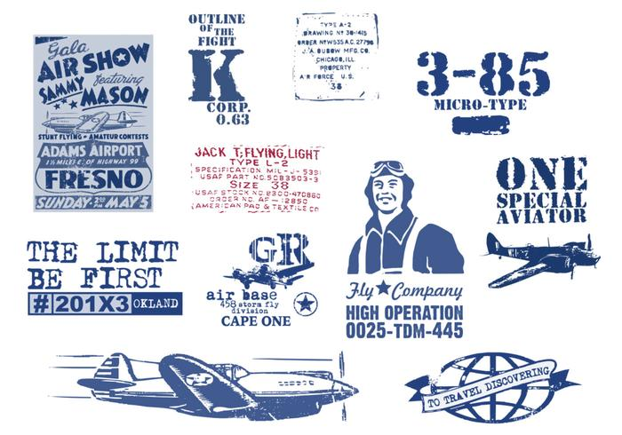 Vintage Aviation Vector Pack