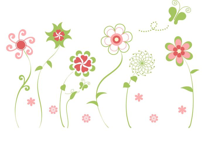 Abstracte bloem vector pack