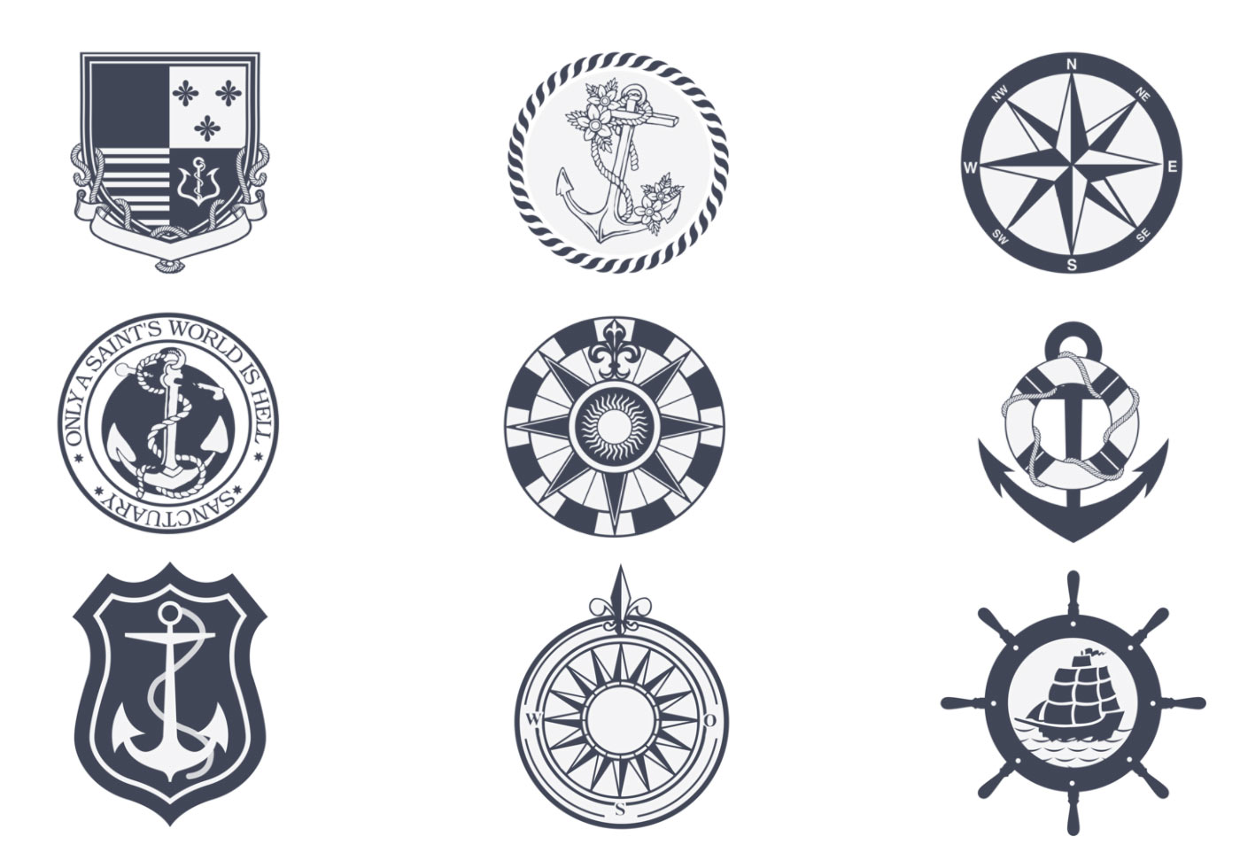 Nautical Symbols And Meanings Vintage Nautical Symbols