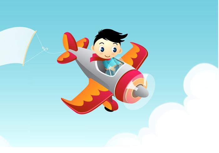 Advertising Airplane Wallpaper Vector
