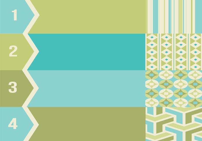 Retro Numbered Patterned Banner Vector Pack