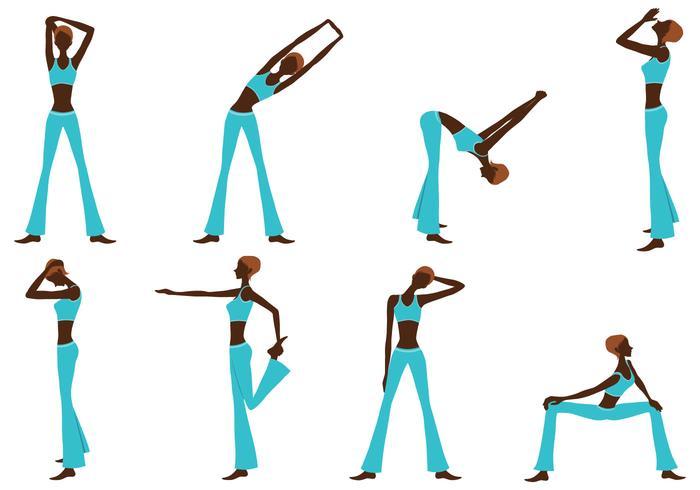 Fitness Girl Silhouette Vector Pack