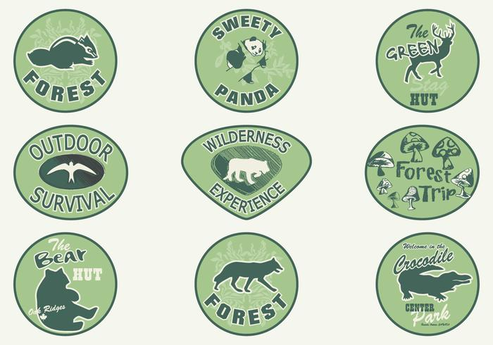 Forest Animal Badge Vector Pack