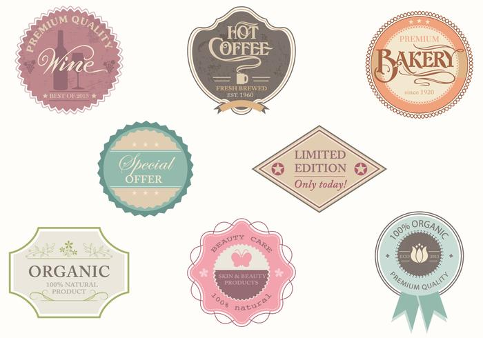 Vintage Shop Label Vector Pack  Download Free Vector Art Stock