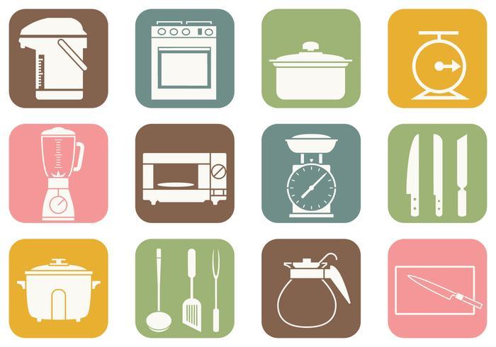 Cocina y Cocina iconos vectoriales