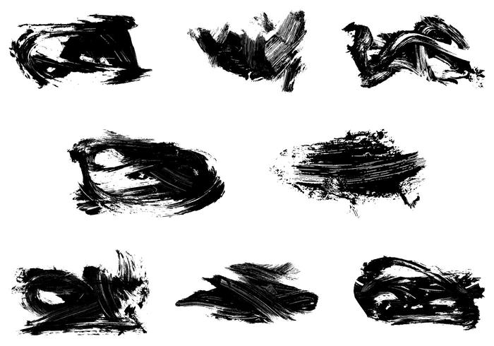 Grungy Dry Paint Vector Pack