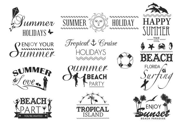 Download Summer Typography Vector Pack - Download Free Vector Art ...