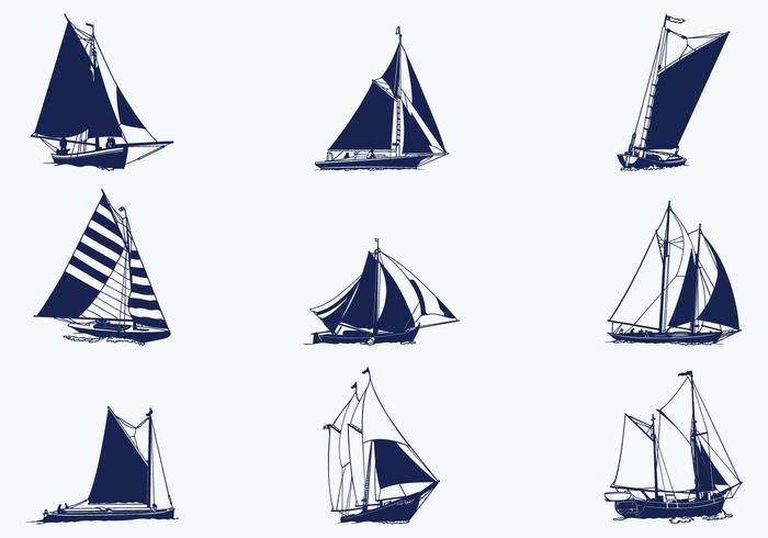 Sailing Ship Vector Pack - Download Free Vector Art, Stock ...