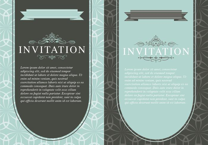 Vintage invitation vector template pack download free vector art vintage invitation vector template pack stopboris Image collections