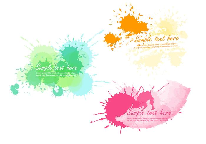 Bright Paint Splatter Vector Banner Pack