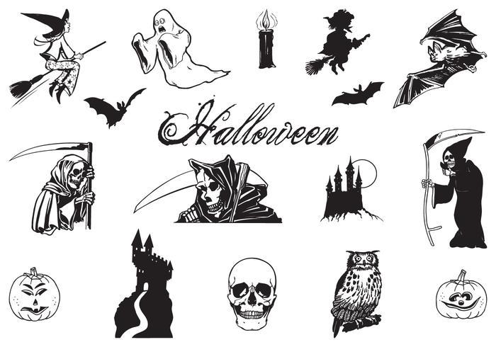 Hand Drawn Halloween Vector Pack