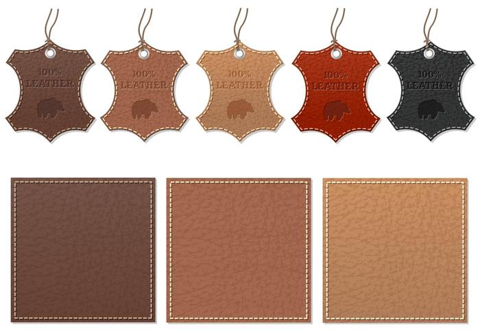 Leather Label Vector Pack