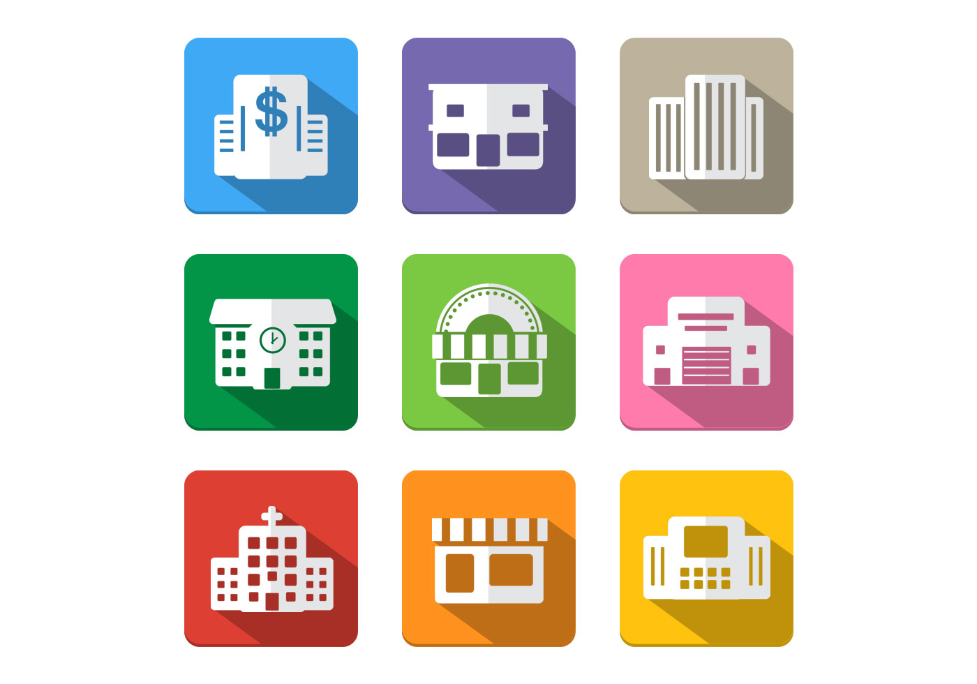 Building Icon Vector Pack
