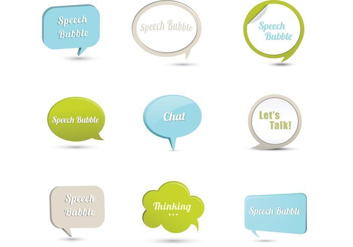 3D Speech Bubble Vector Pack