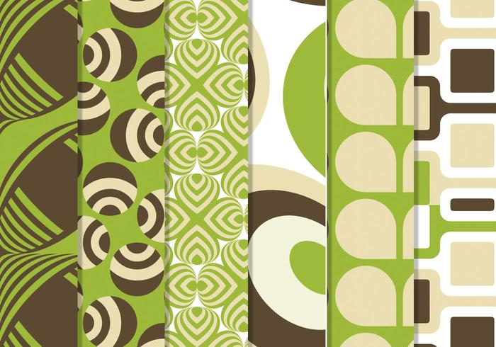 Green Retro Funky Vector Pattern Pack