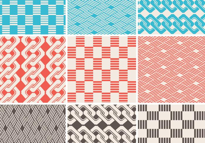 Seamless Braided Pattern Vector Pack