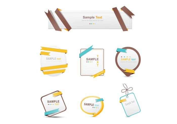 Wrapped Ribbon Banner Vectors and Label Vectors