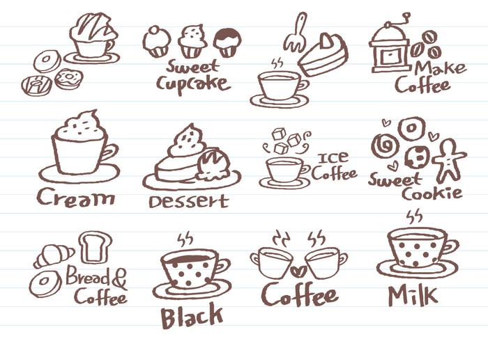 Coffee Doodle Vector Pack