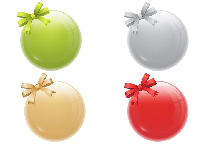 Shiny Christmas Ornament Vector Pack