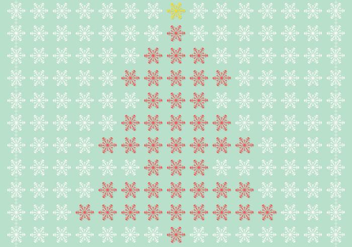 Snowflake Christmas Tree Vector