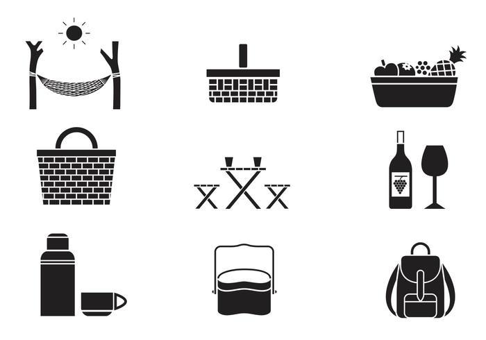 Pack d'icônes vecteur pique-nique