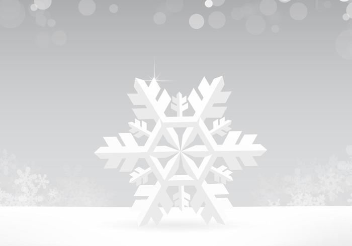 Silver Snowflake Vector Background