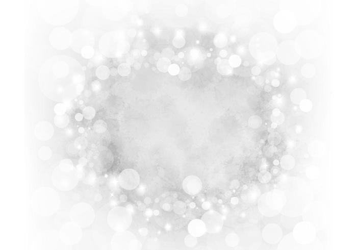 Zilveren Sparkly Bokeh Vector Achtergrond