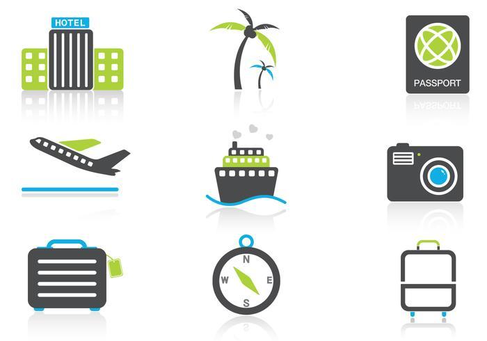 Reis pictogram vector pakket