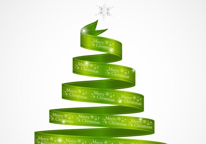 Cinta del verde del rbol de navidad vector descargue - Cinta arbol navidad ...