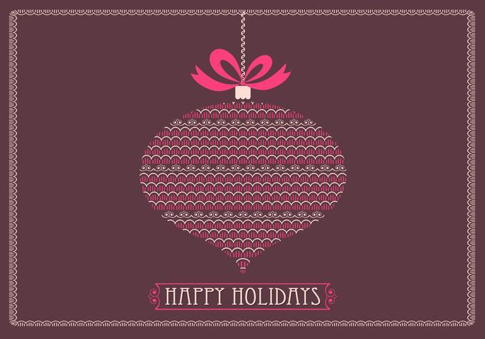 Retro Happy Holidays Vector Background