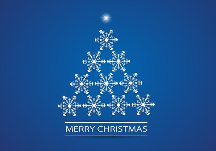 Snowflake Christmas Tree Vector Background