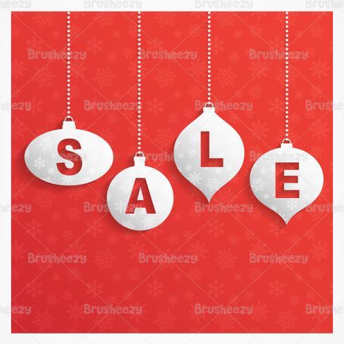 Retro Christmas Sale Vector