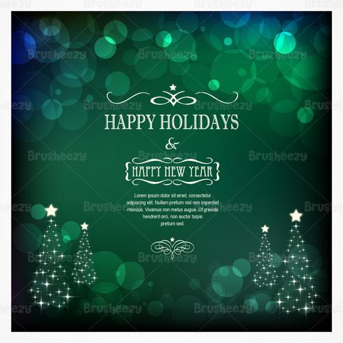 Emerald Bokeh Christmas Vector Background