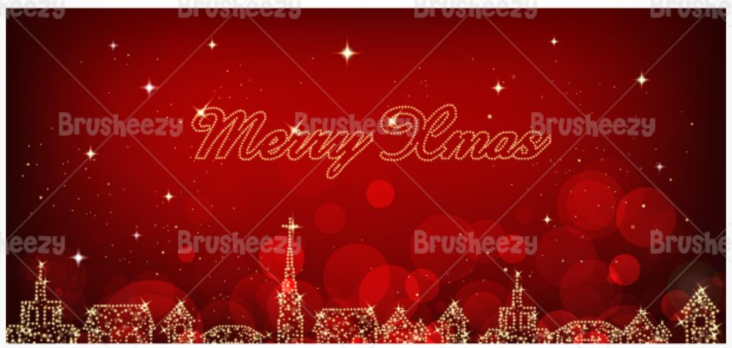 City Lights Christmas Vector Background