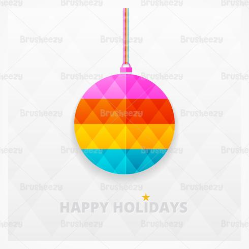 Modern Bright Christmas Ornament Vector Background