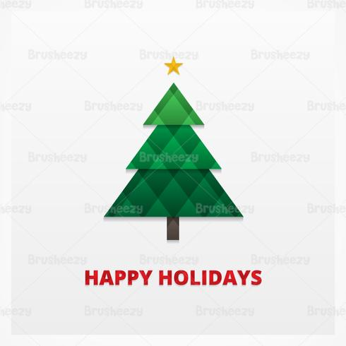 Quilted Christmas Tree Vector Background