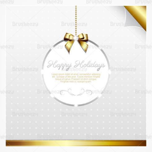 Silber und Gold Feiertagskarte Vektor