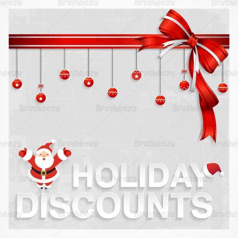 Santas Holiday Discount Vector Wallpaper Download Free Vector