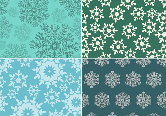 Nahtlose Schneeflocke Muster Vektor Pack