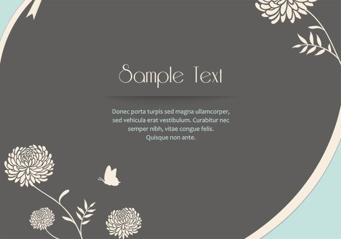 Zinnia Flower Card Vector
