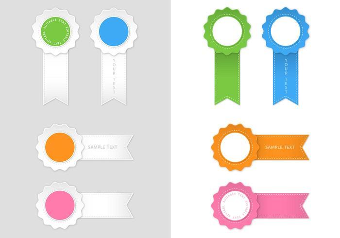 Modern Award Ribbon Vector Pack