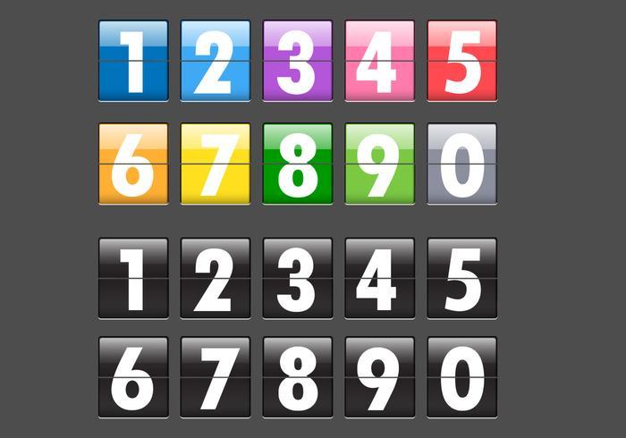 Number Flip Display Vector Pack