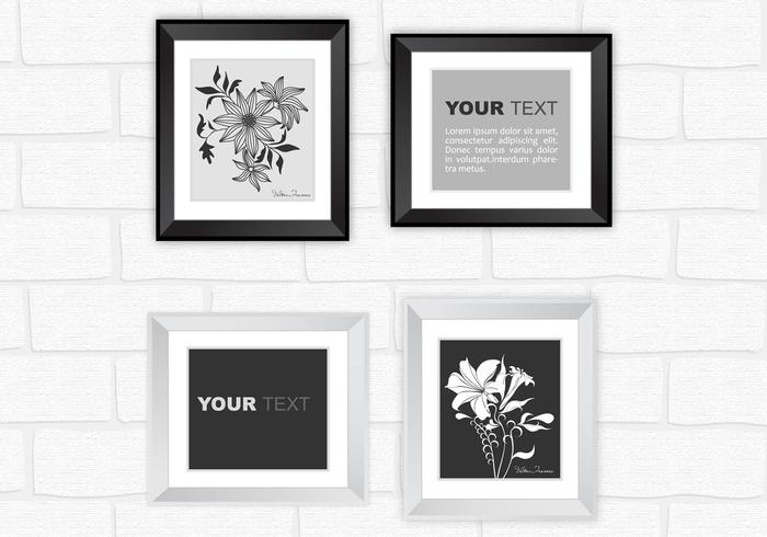Modern Silver and Black Frame Vector Pack