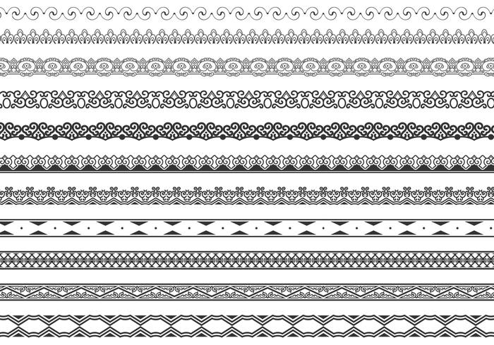 Ornamental Border Vector Pack