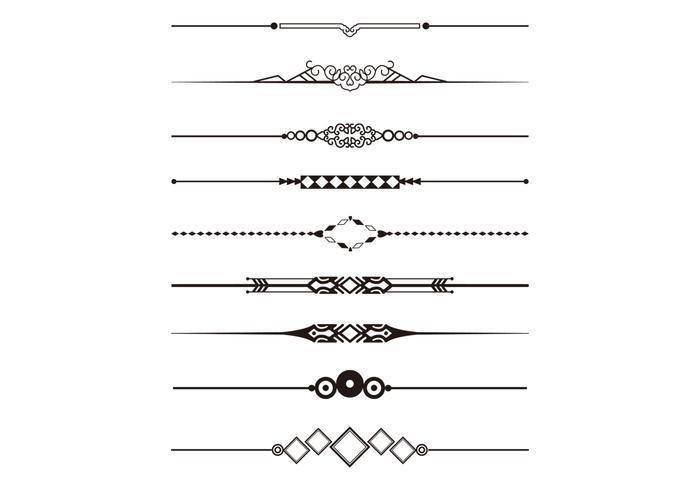 decorative divider vector pack download free vector art