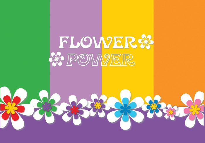 Flower Power Background Vector
