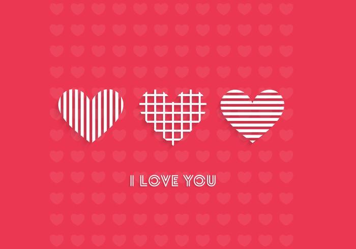 I Love You Wallpaper Vector